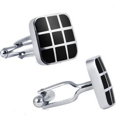 Mens Classic Stainless Steel Cufflinks with Black Enamel http://astore.amazon.com/ahoy-20/detail/B005UGKTCI