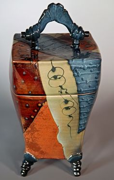 Absolutely wonderful lidded piece of pottery! Click to Close
