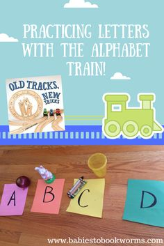 "Get kids thinking creatively and practicing the alphabet with this fun activity and the read aloud ""Old Tracks, New Tricks"" by Jessica Petersen.   Train Activities 