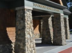 Townsend Library and Senior Center - Created by: Ji-Cal Masonry of Rindge, NH - Featuring: New England Fieldstone Round Veneer Real Stone Veneer, Stone Veneer Panels, Stone Columns, Landscape Materials, Old World Style, Cladding, Senior Center, New England, Natural Stones