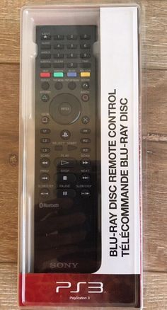 Official Sony PS3 Media Blu-ray Disc Remote Control 1.0 Version New Sealed #Sony