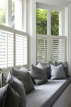 Half height shutters for the living room