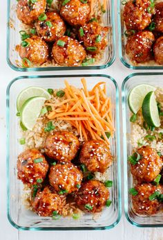 These Honey Sriracha Glazed Meatballs are sweet, spicy and full of so much flavor! They also take less than 30 minutes to make!