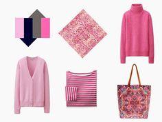 Pink accents for a navy and grey wardrobe