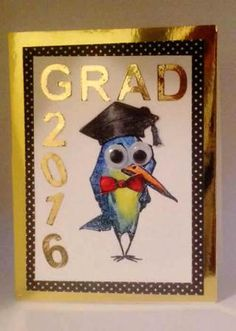 I am a Guest Designer at Cut and today I am making a graduation card using Tim Holtz Crazy Birds Stamps & Tim Holtz Crazy Things st. Graduation Cards Handmade, Graduation Theme, Crazy Bird, Bird Cards, Congratulations Card, Custom Cards, Tim Holtz, Homemade Cards, Paper Crafts