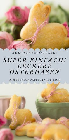 Delicious Easter rabbits made from quark oil dough, easy and quick- Leckere Oster-Hasen aus Quark-Öl-Teig, ganz einfach und schnell Lightning recipe: Traditionally these go with Easter … - Blueberry Scones, Vegan Blueberry, Holi Party, Cake Recipes, Dessert Recipes, Quark Recipes, Cream Recipes, Easter Recipes, Easy Desserts