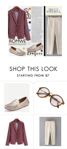 """Fall Footwear Trend: Loafers"" by hangar-knjiga ❤ liked on Polyvore featuring Farrow & Ball, Lauren Ralph Lauren, HallWay, Summer, Fall, romwe and loafers"