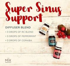 Sinus relief blend to diffuser