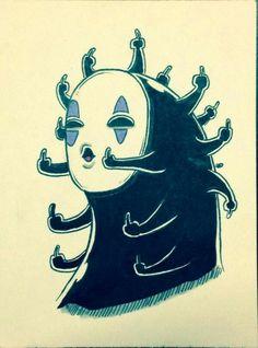 Totoro flips you off