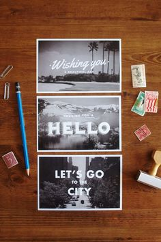 Wish you were here! // Travel Postcards by A Pair Of Pears #typography #type