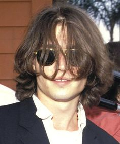 That time he probably couldn't see a damn thing! | Johnny Depp's Awesomely Bizarre Photo Past