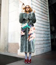 Candela Novembre wears Marco de Vincenzo fur