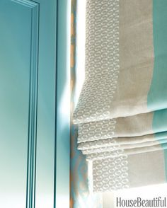 Stripes On Window Treatments. Roman shades