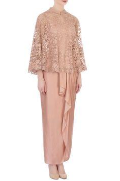 Buy Draped Skirt Set by Aqube by Amber at Aza Fashions Batik Fashion, Abaya Fashion, Muslim Fashion, Skirt Fashion, Fashion Dresses, Hijab Evening Dress, Hijab Dress Party, Dress Brokat Muslim, Kebaya Modern Hijab