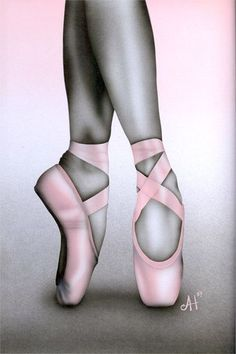 pointe shoes - ~ღ~ Ballet ~ღ~ - - Elektra Z. Ballet Drawings, Dancing Drawings, Pencil Art Drawings, Cool Art Drawings, Art Drawings Sketches, Ballet Art, Ballet Dancers, Ballerinas, Pointe Shoes Drawing