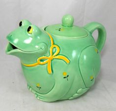 Vintage Otagiri Japan Frog Teapot Hand Crafted Mint Condition w Foil Label | eBay
