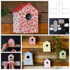 Building a birdhouse out of cardboard with your kids ! It's so easy and fun to make! It is not just a good way to make a great birdhouse, but also gives yo