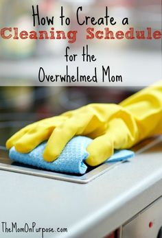 Are you a frazzled and overwhelmed mom trying to just stay afloat? Find out how to create a cleaning schedule that will work for you! Deep Cleaning Tips, House Cleaning Tips, Cleaning Solutions, Spring Cleaning, Cleaning Hacks, Cleaning Products, Cleaning Recipes, Bujo, Cleaning Schedule Printable