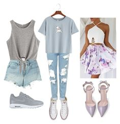 """💝"" by adine233 on Polyvore featuring Converse, Topshop, WithChic, T By Alexander Wang and NIKE"