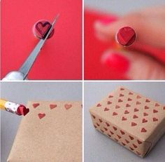 Hearts paper for gifts!