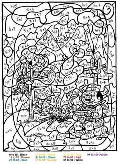Barbie Color By Number Coloring Pages 9