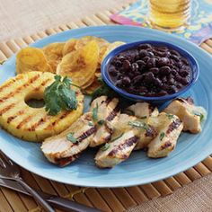 Grilled Mojo Chicken and Pineapple