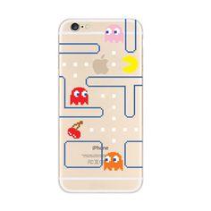 Pac Man Maze iPhone 6s 6 Plus SE 5s 5 Soft Clear Case