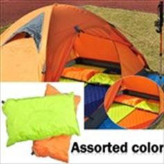 Inflatable Waterproof Sleeping Pillow for Camping Travel - Color Assorted