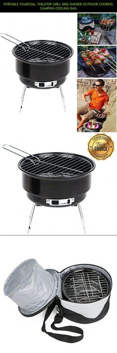 Portable Charcoal Tabletop Grill BBQ Smoker Outdoor Cooking Camping Cooling Bag #kit #tech #outdoor #racing #camera #technology #plans #gadgets #bag #parts #cooling #shopping #drone #products #fpv
