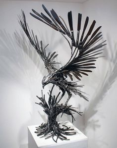 Recycled Metal Animal Sculpture