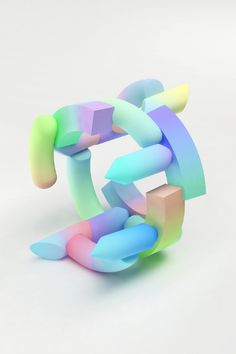 Maiko Gubler — Visual Arts - Imagery & Sculpture Gradient Bangle Series of Wearable Objects, Vaporwave, Nathalie Du Pasquier, 3d Cinema, 3d Printed Jewelry, 3d Design, Graphic Design, Artist At Work, 3d Artist, Jewelry Art