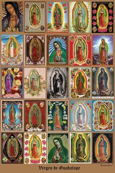 "Stunning GUADALUPE Chromo Historical Religious  20 x 30"" Photo Fine Art Print by MARIPOSAFUERTE"