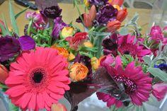 Playful and colorful floral arrangement