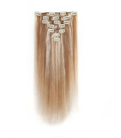 Rosette Hair 18 Inch Straight Clip In Full Head Human Hair Extensions Weave Unprocessed Hair Weft 7pcs (Color-12/613) -- This is an Amazon Affiliate link. Find out more about the great product at the image link.