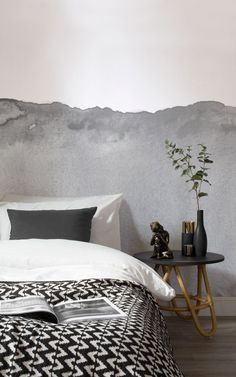 Create a cool modern vibe with our Grey Wave Watercolour Wall Mural which features an original design that was hand-painted by our in-house design team. The subtle tones of this wallpaper are perfect to incorporate into any interior for a sophisticated look. #greyandwhitewallpaper #greywallpaper #greymodernwallpaper #greyandwhitemodernwallpaper #modernspaces #modernbedroom #greyandwhitebedroom #greyandwhitestudy
