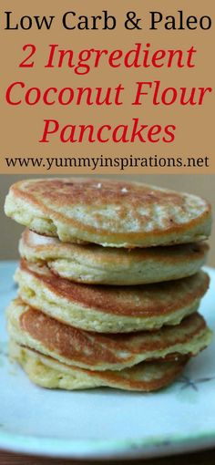 Gluten Free Coconut Flour Pancakes Recipe – Quick Easy Dairy Free, Paleo, Low Carb & Keto friendly pancake recipe – perfect for a gluten free breakfast. Keto Diet Breakfast, Healthy Breakfast Recipes, Pancake Recipes, Breakfast Pancakes, Breakfast Ideas, Breakfast Casserole, Healthy Low Carb Breakfast, Breakfast Gravy, Keto Casserole