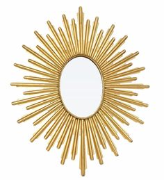 Made by Dessau Home. Brand: Dessau Home. Dessau Home Antiqued Gold Oval Starburst Mirror. 052829012214 Part: Item: Antiqued Gold Oval Starburst Mirror by Dessau Home Measures: 32 in. H 25 in. Made of iron Gold Starburst Mirror, Sunburst Mirror, Moroccan Home Decor, Mirror Shapes, Contemporary Wall Mirrors, Home Decor Mirrors, Mirror Art, Decoration, The Ordinary