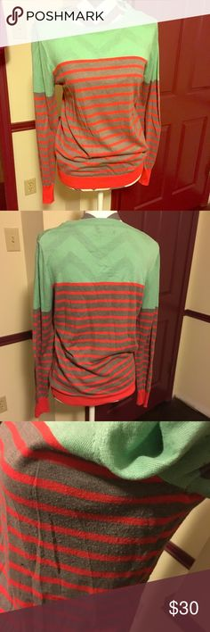 THML Colorblock Sweater Large Soft, lightweight THML brand sweater in fun colors. Size Large. Minimal piling under armpits as shown in picture. THML Sweaters