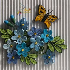 Neli is a talented quilling artist from Bulgaria. Her unique quilling cards bring joy to people around the world. Quilling Butterfly, Quilling Work, Neli Quilling, Quilling Craft, Quilling Ideas, Butterflies, Paper Quilling Cards, Paper Quilling Patterns, Quilling Designs