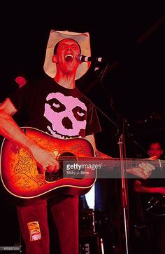 American musician Hank Williams III on stage at Reading Festival, UK, 2000.