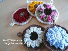 ポコッとお花のアクリルたわし♪の作り方|編み物|編み物・手芸・ソーイング | アトリエ|手芸レシピ16,000件!みんなで作る手芸やハンドメイド作品、雑貨の作り方ポータル