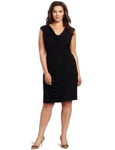 #Shopping #Bargain #Deals Jessica Howard Women's Plus-Size Rouched Cowl Neck Dress  Price:$99.00