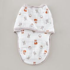 Forest Friends Easy Swaddle by aden + anais. $24.95  | The Land of Nod