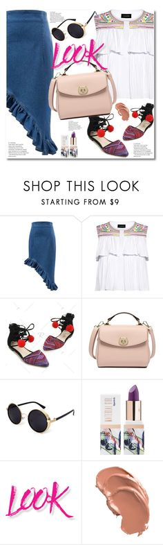 """""""#22"""" by aida-nurkovic ❤ liked on Polyvore featuring Saloni, Teeez and NYX"""