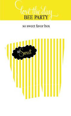 So Sweet Bee Favor Box (PRINTABLE)