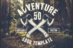 Ad: 50 Retro Adventure Logo by TSV Creative on Are you ready to go outside and do adventure? This product is 50 logo templates inspired from the outdoor activities and traveling. Logos Ideas, Hand Drawn Logo, Hand Lettering, Personal Logo, Branding Kit, Animal Logo, Pencil Illustration, Logo Design Inspiration, Design Ideas