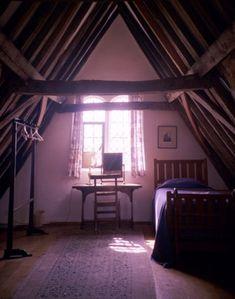 the attic in 'Warden Abbey' tudor house