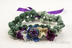 Woodland Fairy Hippie Crochet Choker  Polymer Clay door DeidreDreams, 55,00