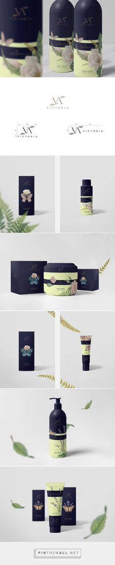 Victoria Cosmetics packaging on Behance curated by Packaging Diva PD. Victoria is a luxury cosmetics range which capture the classic scents of Magnolia, Lavender and Rose.: