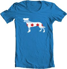 Chicago Dog - Supports shelters and rescue organizations around Chicago. Don't shop - Adopt!! :)    I found this on www.reklaimapparel.com